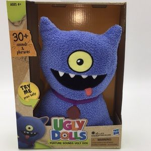 UGLY DOLLS Feature Sounds Ugly Dog Talking Plush